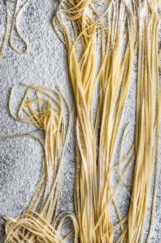 Freshly made tagliatelle (seen from above)