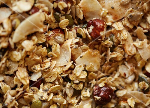 Gluten-free, sugar free muesli mixture