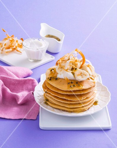 Passionfruit pancakes