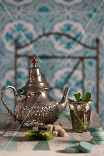 Moroccan peppermint tea
