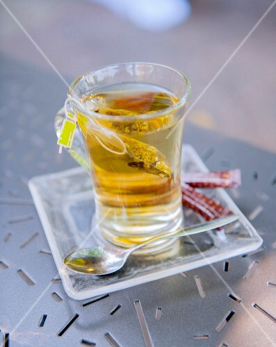 A glass of herb tea