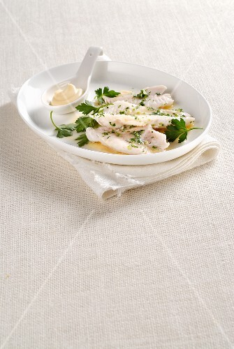 Rose fish fillets with Beurre blanc