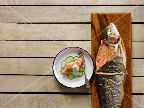 Sea trout with sorrel mayonnaise