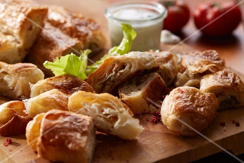 Burek (spicy puff pastries, Balkans)