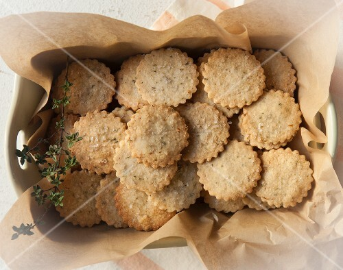 Thyme butter biscuits