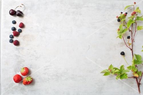 An arrangement of berries