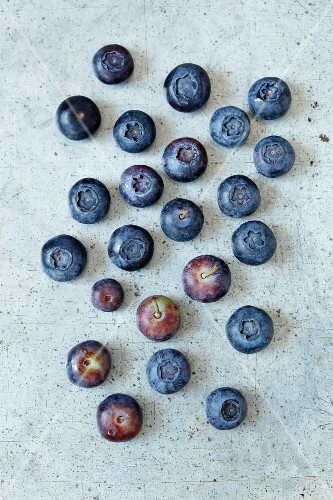Blueberries (seen from above)