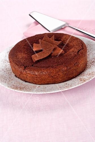 Torta Caprese (almond chocolate cake from Capri, Italy)