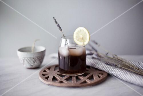 A jar of lavender lemonade