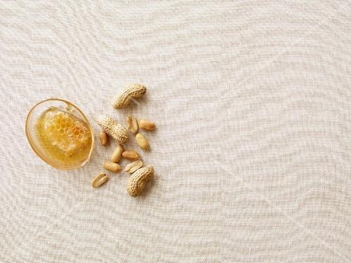 Honey and peanuts