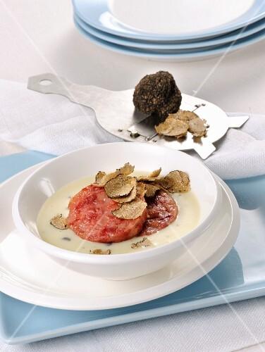 Cotechino in truffle sauce (Italy)