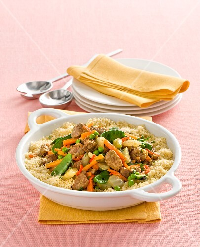 Couscous with pork and vegetables