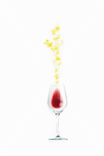 An illustration of sulphate in red wine