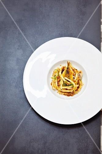 Sicilian maccaroni with sardines