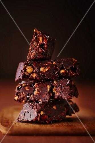 Chocolate and nut bars