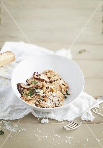 Mushroom risotto with Parmesan