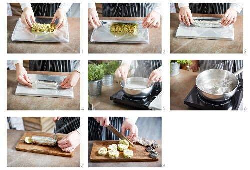 Making napkin dumpling