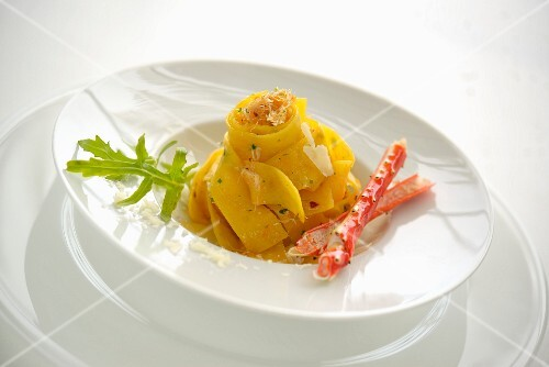 Papardelle with Alaskan king crab