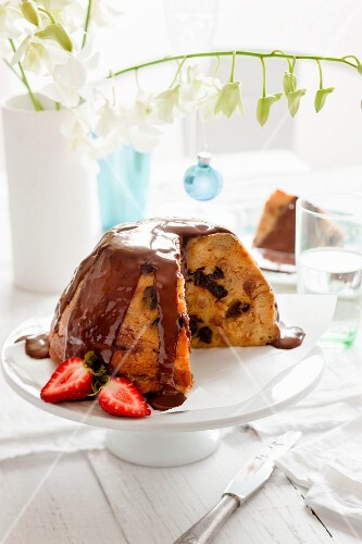 Croissant Christmas pudding