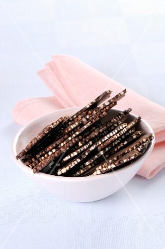 Chocolate with puffed quinoa