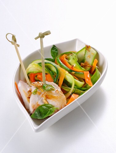 Fish with Thai-style vegetables