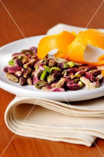 Bronte pistachios and orange peel
