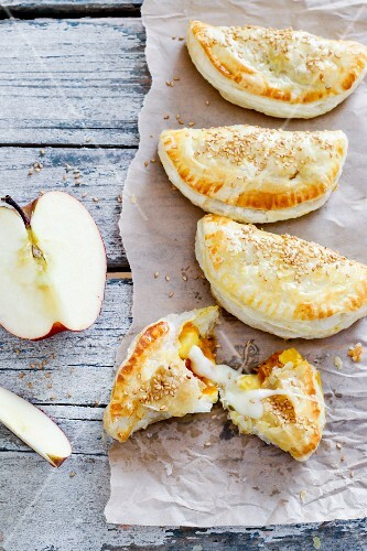 Apple and cheese turnovers