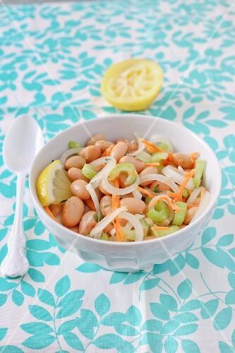 A summer bean salad