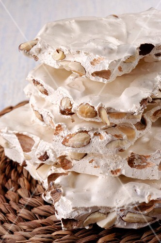 A stack of white nougat