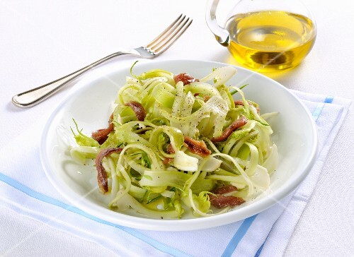 Puntarelle with anchovies