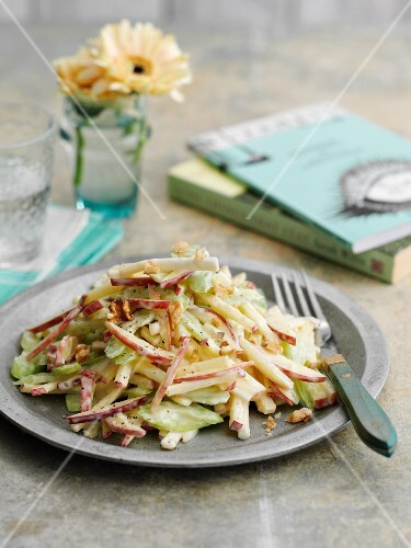 Waldorf salad with celery and apple