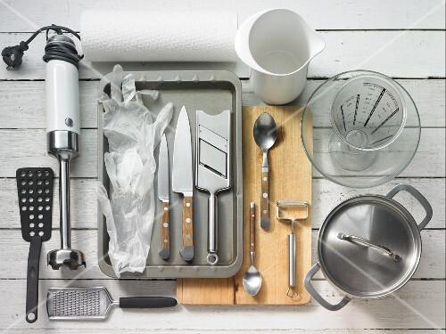 Kitchen utensils for making beetroot carpaccio