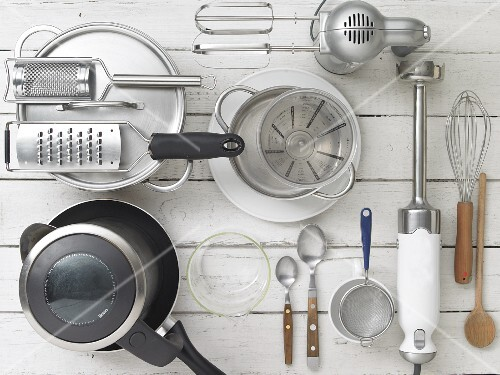 Various mechanical and electric kitchen devices and utensils