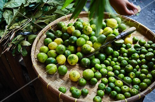 Limes at an Asian market