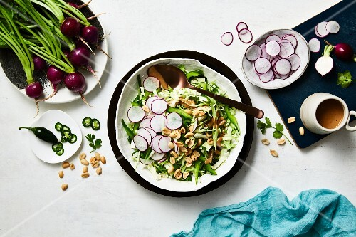 Radish salad with a peanut dressing (Asia)