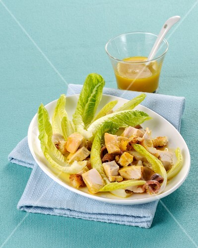 Chicken salad with anchovies