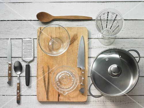 Kitchen utensils for making fish soup