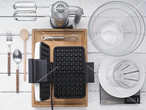 Utensils for making waffles