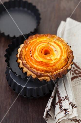 A mini carrot quiche