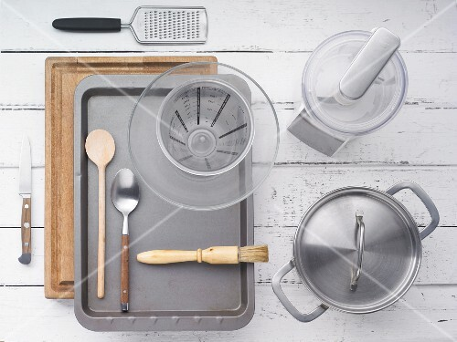 Kitchen utensils for making polenta and vegetables