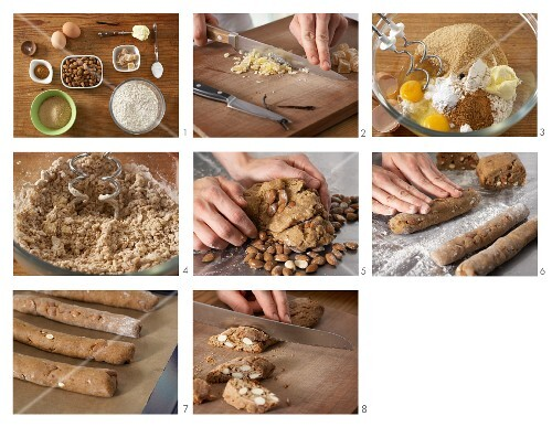 Cantuccini being made