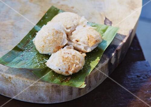 Khanom Krok - Thai coconut cake
