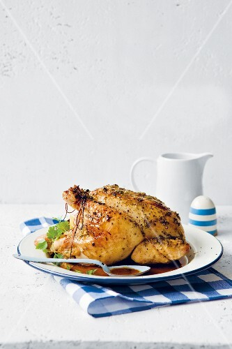 Herb roasted chicken with verjus