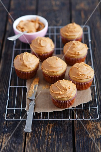 Muffins with peanut butter