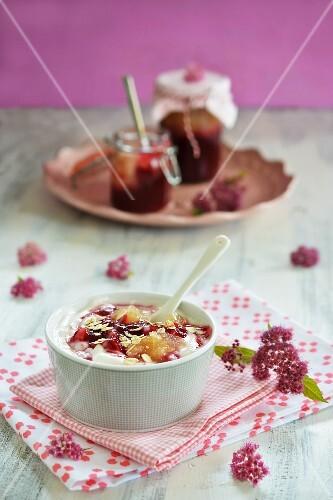 Jam yoghurts
