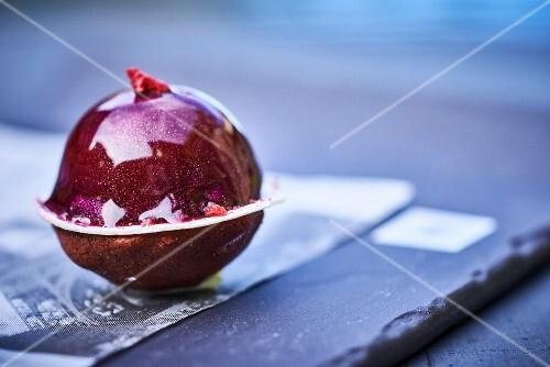 A ball shaped cake
