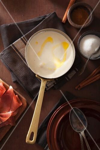 Rømmegrøt (traditional Norwegian porridge made with sour cream)