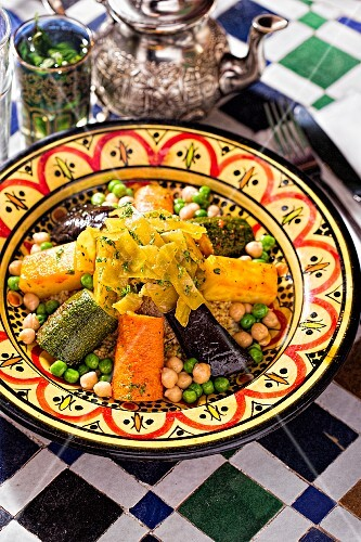 Couscous with vegetables (North Africa)