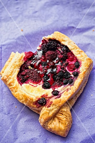 A puff pastry with summer berries