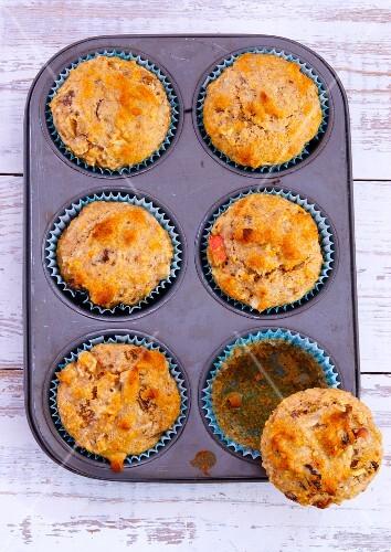 Muffins in a muffin tin